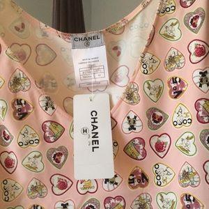 Chanel coco heart sleeveless dress